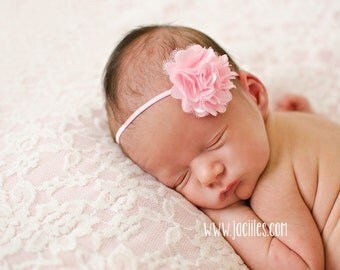 Newborn Headband, Baby Headband, Flower Headband, Pink Headband, Infant Headbands, Newborn Accessories, Girl Headband, Headband for Babies