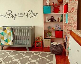 Dream Big Little One Baby Nursery Wall Decal Sticker