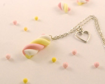 marshmallow necklace - food jewelry