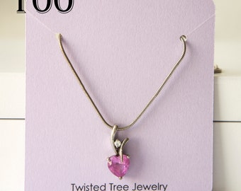 Custom Necklace Cards With Your Shop Name Or Logo-3 by 2.75 inches- Many Colors Avaialble (100 Cards)