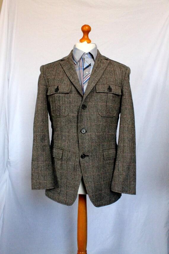 vintage 1960s tweed safari jacket