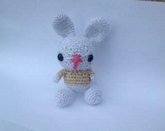 Sparkles the Amigurumi crochet glitter bunny