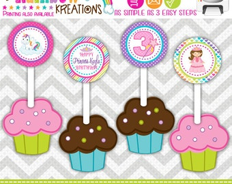 CT-690: DIY - Princess Fairytale Celebration Cupcake Toppers