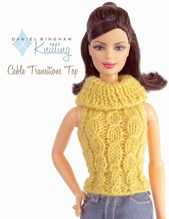 Knitting Patterns For Barbie Dolls : Knitting pattern for 11 1/2 doll Barbie: Cabled