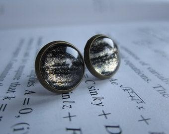 Venus - Earring studs - science jewelry - science earrings - galaxy jewelry - galaxy earrings - fake plugs - plug earrings - physics earring