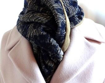Short floral scarf