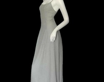 Vintage RAMPAGE Rayon Pinstripe Grunge  Maxi Dress 90s