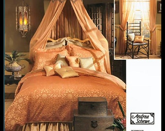 DUVET COVER CANOPY Bed Sewing Pattern - Pillows Shams & Bedroom Decor Decorating Accessories