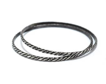 20s Sterling Silver Pair of Matching Bangles