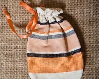 Irene Orange Pouch - Handwoven (19 x 13.5 cm)