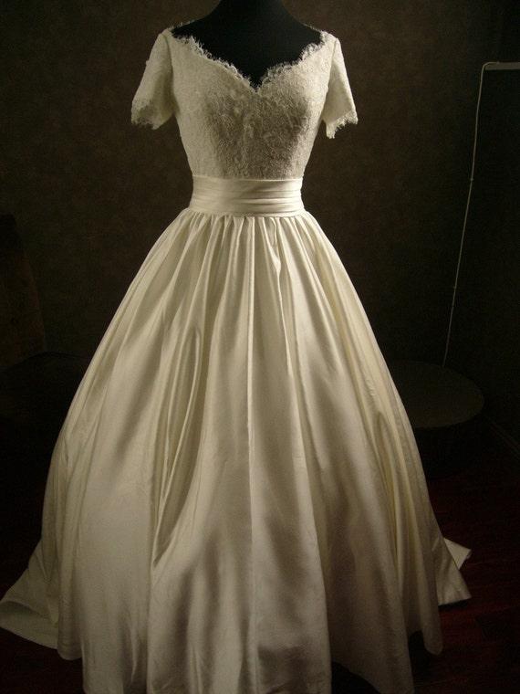 Custom Made Wedding Dress with Alencon by WeddingDressFantasy