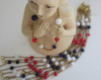 Japanese Vintage Red White And Blue Bracelets