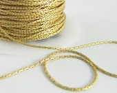 5 Feet Matte Gold-Plated 1mm Beading Chain Ch190