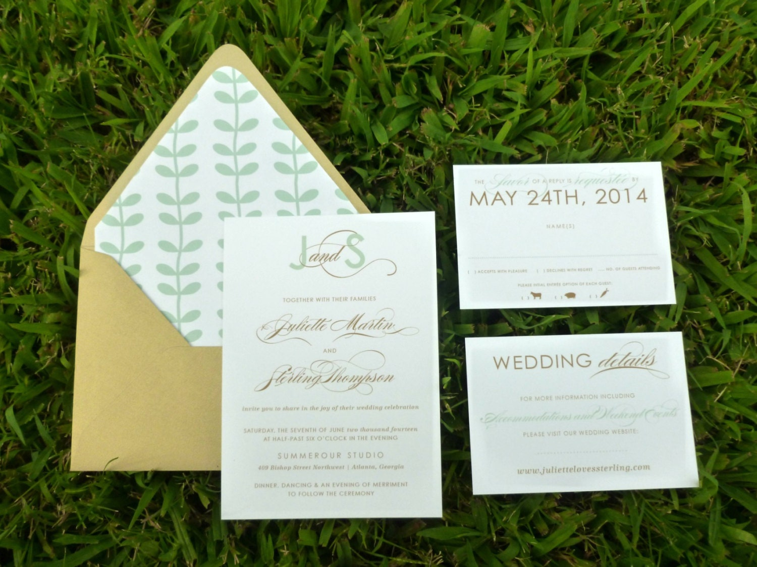Elegant Monogram Wedding Invitations: Monogram Wedding Invitation Elegant Wedding By DHFitzgerald