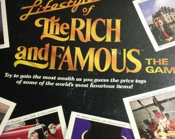 Vintage 1987 Lifestyles of the Rich and Famous Board Game by Pressman