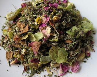 Inspired Dreams 2oz Tea with Mugwort - Organic Herbal Tea - Caffeine Free - Loose or Bags Vivid Lucid Dreaming Journeying Astral Travel