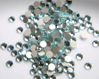 RARE 50 pcs Swarovski Crystal 2028 Light Azore glacier Ice Blue Flatback ss20 5mm Rhinestones