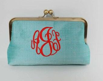Personalized brides, bridesmaid clutch, monogrammed clutch , wedding clutch,bridesmaid gifts