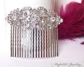 Crystal hair comb, bridal hair comb, Swarovski wedding hair comb, bridal hair piece comb, Rhinestone wedding hair accessories