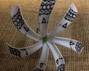 Polynesian Tribal Or Tattoo Tiare/Siale Foam Flower.. Perfect For Wedding Favors, Brides And Bridesmaids, Luau, Beach, Gifts..