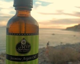 Jasmine ORGANIC ARGAN OIL || Cold Pressed || 2 oz || Scented Argan Oil