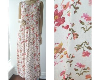 TAKE 40% OFF Grunge Revival Floral Maxi Tent Dress