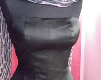 corset, bodice, lace bodice, corset with slats
