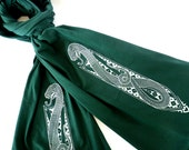 Snake Charmer Scarf - Green Scarf with Medieval Snake Crest
