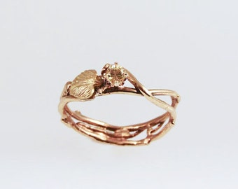 Sun-kissed Eco Engagement Ring - in 14K Gold
