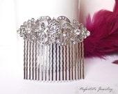 bridal hair comb, swarovski wedding hair piece,wedding hair comb, pearl crystal hair comb,wedding hair accessories,vintage bridal head piece