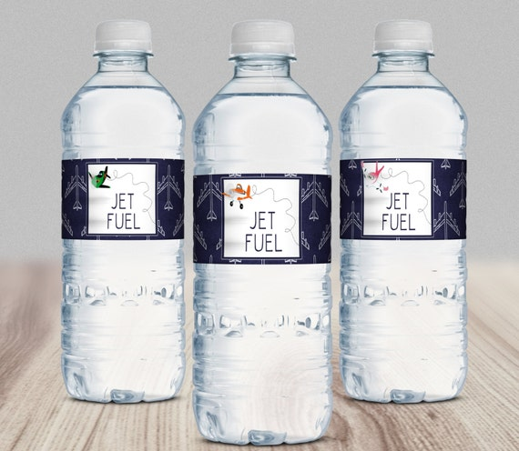"""Items Similar To Planes """"Jet Fuel"""" Water Bottle Labels"""