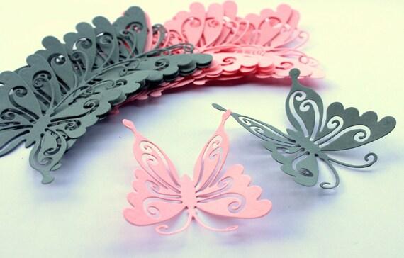 Articles similaires die cut papillons art de mur for Decoration murale papillon 3d noir