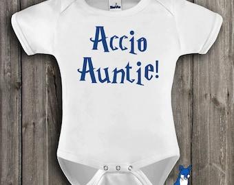 Baby Clothing-Funny baby clothes-Accio Auntie-Baby clothes-Geekery baby clothing-baby one piece- Cute baby clothes-BlueFoxApparel *162