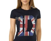 ONE DIRECTION T-Shirt 1D British Chic T-Shirt Crew Neck or Fitted V-Neck 3 Styles