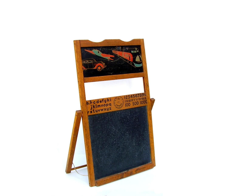 Antique childs blackboard easel | eBay