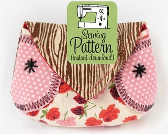 Owl Coin Purse PDF Sewing Pattern | Coin Purse Sewing Pattern | Change Pouch Pattern PDF