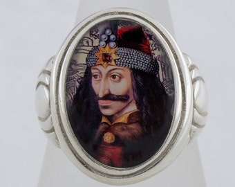 Vlad the Impaler Sterling or Bronze Ring (Sizes 5-14 w/ half sizes)