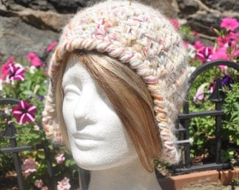Fuzzy Ear flap Hat - Crocheted Hat - Winter Accessories - Women's Winter Hat