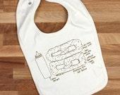 Pretzel baby bib, Philly pretzel organic cotton bib, gender neutral baby gift, Philadelphia gift, baby shower gift