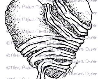Digital Stamp Mummy heart digi TDozier