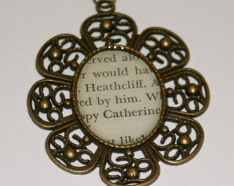 Wuthering Heights Necklace, Emily Bronte, Literary Necklace