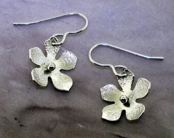 Silver Flower Earrings by Kathryn Riechert
