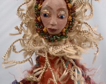 "ARIES- ZODIAC Art Doll, OOAK, 20 cm (8"") Tall"