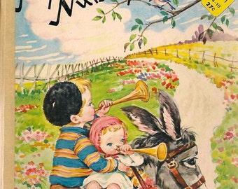 My Happy Book My Favourite Nursery Rhymes - 1970s(?) - Vintage Kids Book