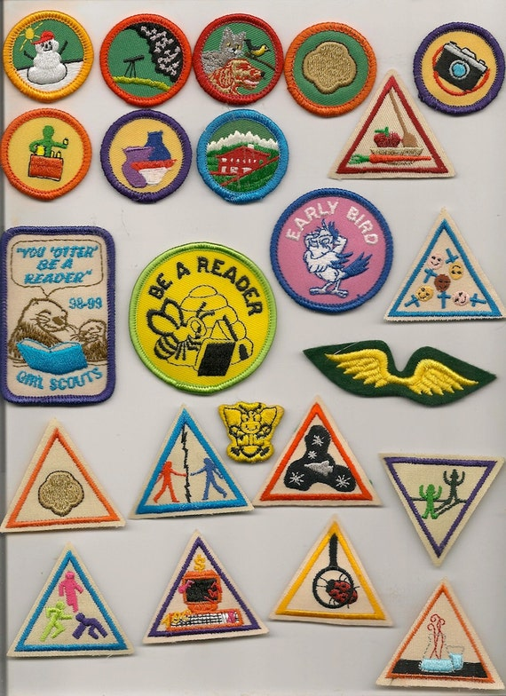 Pick Three Cards For A Free Psychic Reading: Pick Three Girl Scout Badges Craft Supply By HazelCatkins