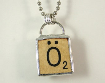Scrabble Letter O Umlaut Necklace