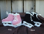 Hockey Skate Baby Booties, size X-Small (3 month)