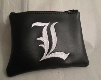 L from Death Note Inspired coin purse/wallet