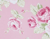 SALE!  Full Bloom Rose in Pink Sunshine Rose by Tanya Whelan Fabric  - 1 Yard Cotton Quilt Fashion Fabric