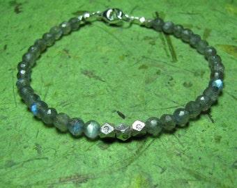 Shimmer - Labradorite and Sterling Sterling Bracelet